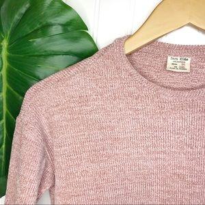Zara Kids Girls Front Tie Blush Sweater SZ10